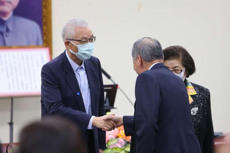 20200309-前國民黨主席吳敦義9日出席「109年黨主席補選新任主席就職典禮」。(顏麟宇攝)