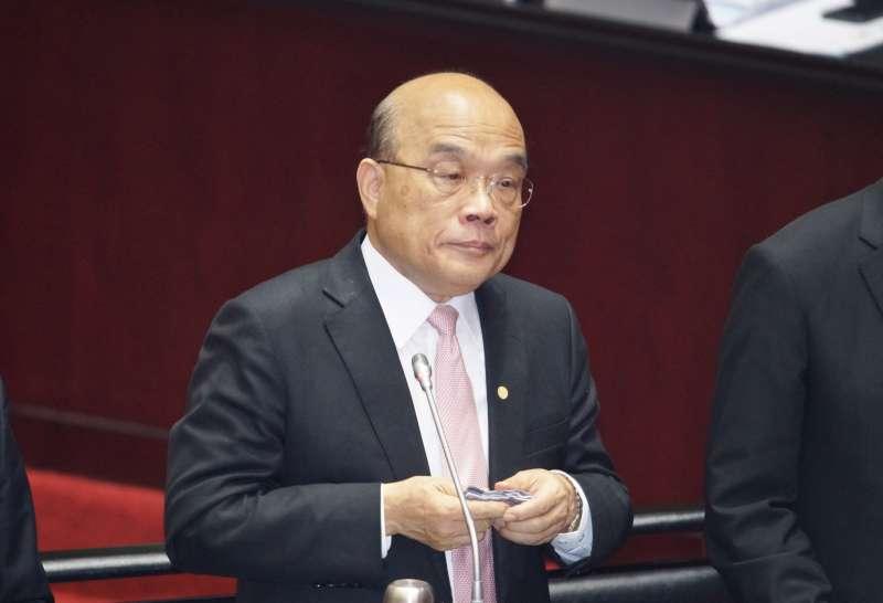 20200310-行政院長蘇貞昌10日出席立法院院會總質詢。(盧逸峰攝)