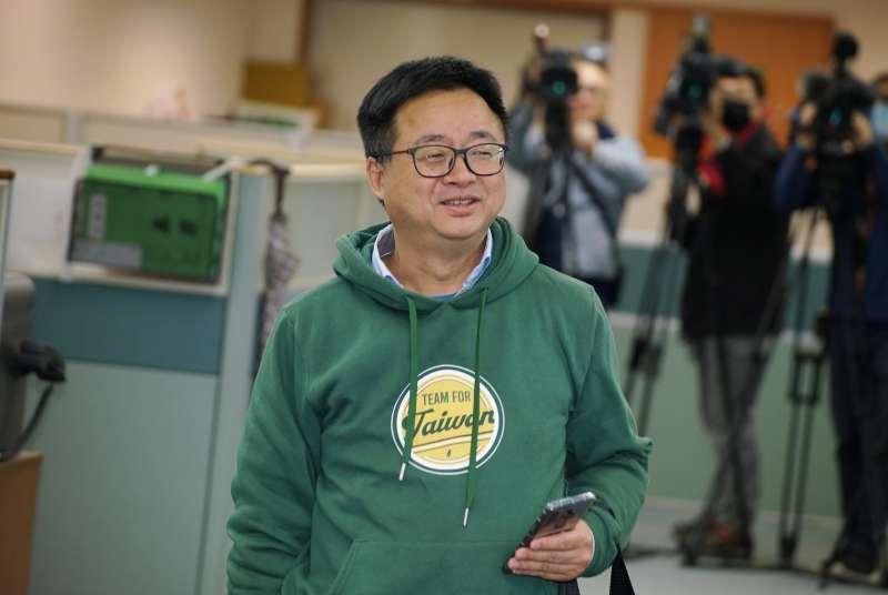 20200311-民進黨11日召開中常會,秘書長羅文嘉出席。(盧逸峰攝)