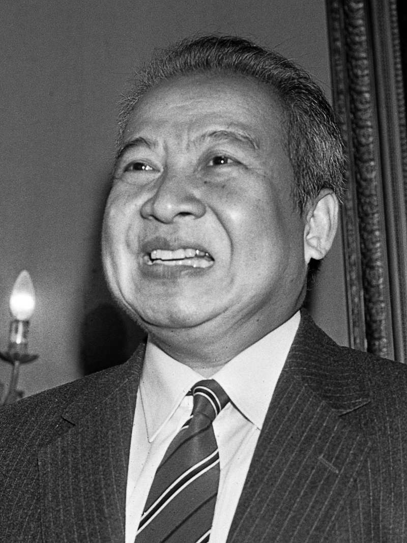 柬埔寨前元首施亞努(圖片取自維基百科)