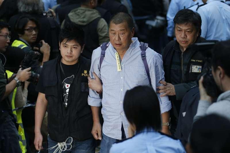 香港媒體大亨黎智英(AP)