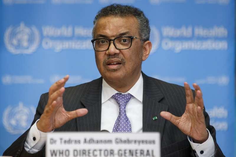 2020年3月11日,世界衛生組織總幹事譚德塞宣布武漢肺炎(新冠肺炎)疫情疫情進入「大流行」階段(AP)