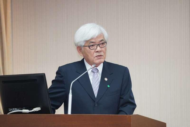 20200312-中選會主委李進勇12日於內政委員會備詢。(盧逸峰攝)