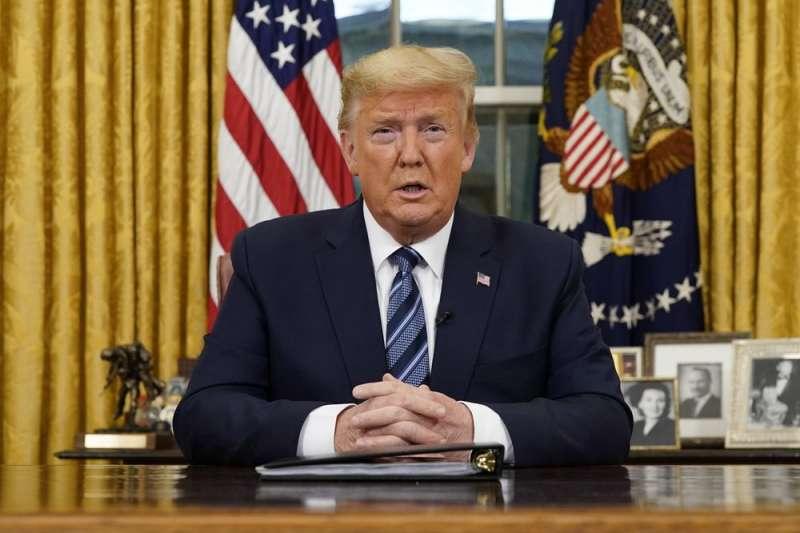 美國總統川普11日宣布,13日起,全面暫停從歐洲入境美國,為期30天(美聯社)