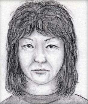 透過目擊者描述,所描繪疑似嫌犯的面容。(圖/翻攝自愛知縣警察官網)