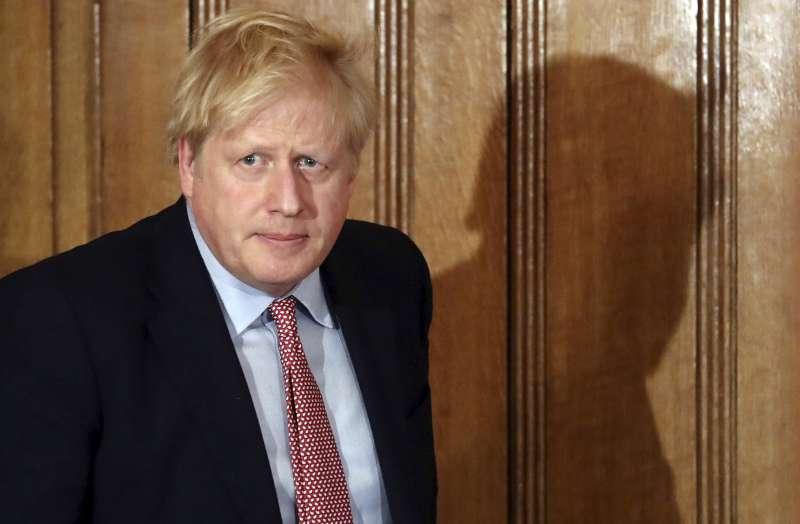英國首相強森。(AP)