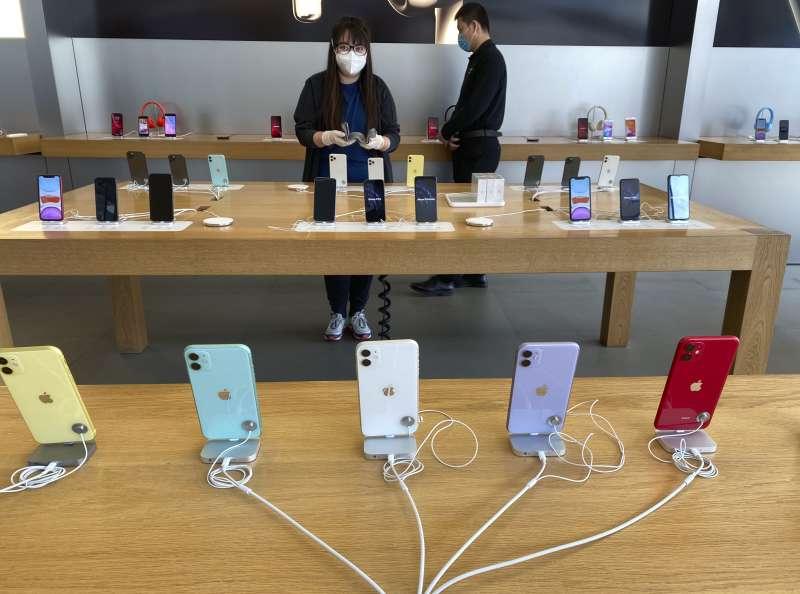 美國蘋果公司在中國的直營店(AP)