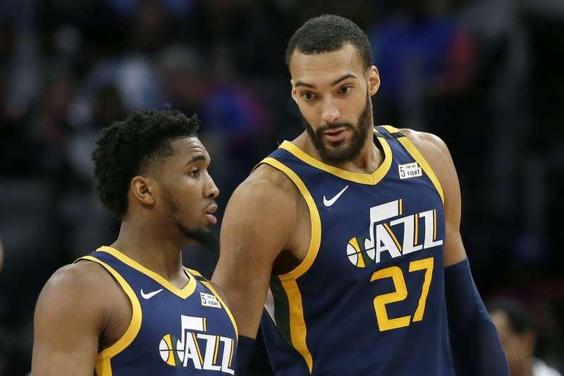 戈貝爾是NBA首位新冠肺炎患者。(AP)