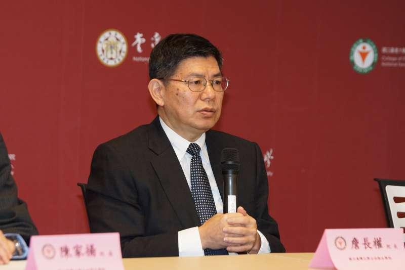 20200316-台大公衛學院16日舉行「抗COVID-19防疫整備說明會」,院長詹長權主持。(盧逸峰攝)
