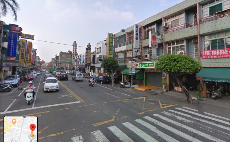 位於彰化縣的中正路,路面寬敞,店家眾多。(圖/ google 街景)
