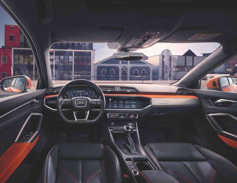 圖為 Audi 新世代數位化車艙設計 (圖/台灣奧迪)