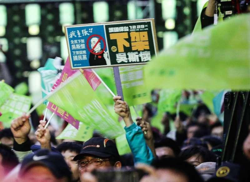 吳斯懷在年初大選,成為泛綠攻擊標的。(陳品佑攝)