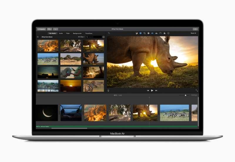 蘋果週三(18日)頒布新機Macbook Air,現在只能限購五台。(圖/ Apple)