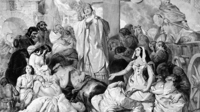 c02黑死病直接動搖了中世紀歐洲佃農制經濟的基礎。(圖/BBC News)