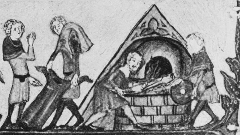 c03黑死病泛濫,人們為了控制傳播焚燒患者衣物。(圖/BBC News)