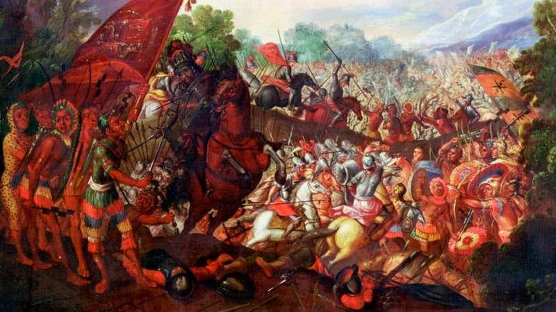 c04墨西哥阿茲特克,1520年,西班牙殖民者遭遇當地人勇猛抵抗。(圖/BBC News)