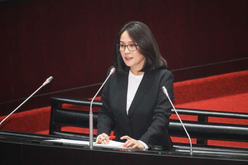 20200320-立委高金素梅進行立院10屆1會期第5次會議質詢。(蔡親傑攝)