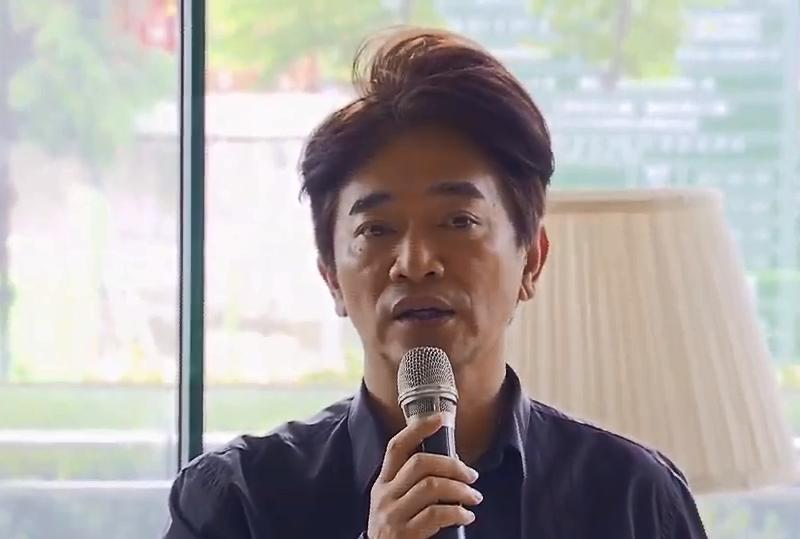 吳宗憲今(23)日在記者會上代替師弟辛龍發言。(圖/截自直播畫面)