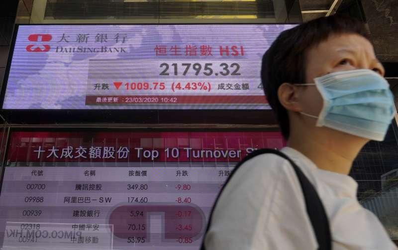 2020年,中國新冠肺炎(武漢肺炎)疫情延燒,香港如臨大敵(AP)