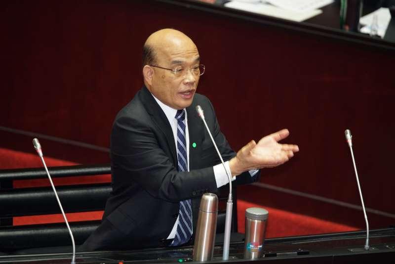 20200324-行政院長蘇貞昌24日接受施政總質詢。(盧逸峰攝)
