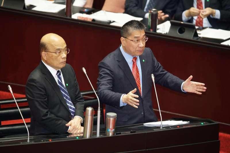 20200324-行政院長蘇貞昌、內政部長徐國勇24日接受施政總質詢。(盧逸峰攝)