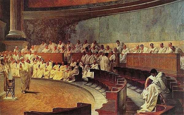元老院中的「執政官」制度,削弱王權,不允許一人單獨掌握權力。(圖片取自維基百科)