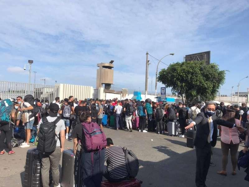 大批旅客被困在秘魯,塞爆了機場、車站(圖片來源:雄獅領隊王智弘提供)