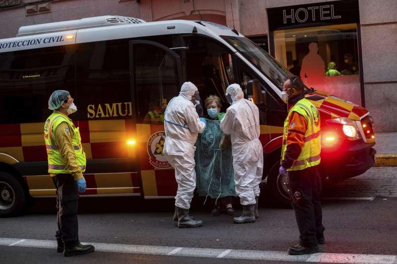 武漢肺炎(新冠肺炎)在西班牙疫情大爆發。(AP)