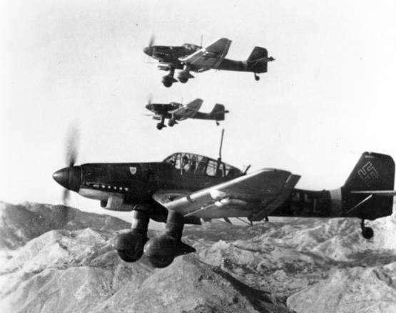 林挺生:德軍斯圖卡俯衝轟炸機(資料來源:Wikimedia Commons)