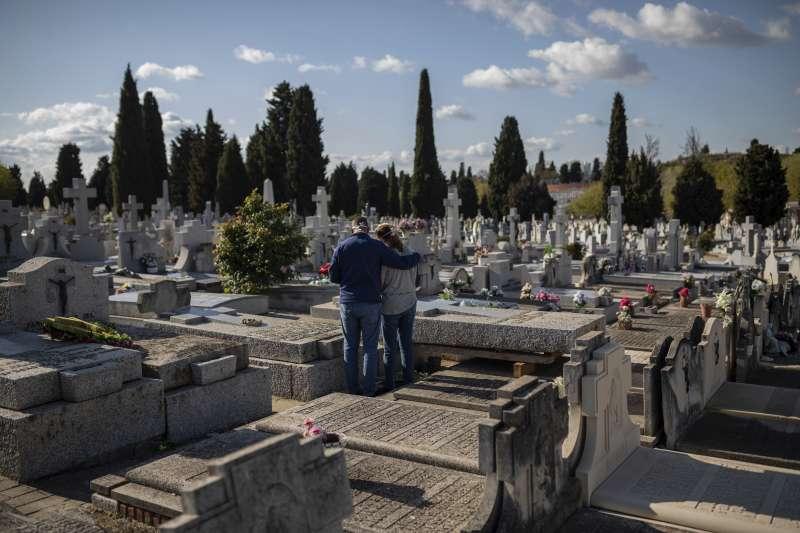 2020年,新冠肺炎(武漢肺炎)風暴侵襲西班牙。(AP)