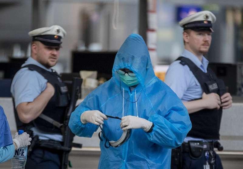 2020年,新冠肺炎(武漢肺炎)疫情蔓延德國,當局全面提升防疫工作(AP)