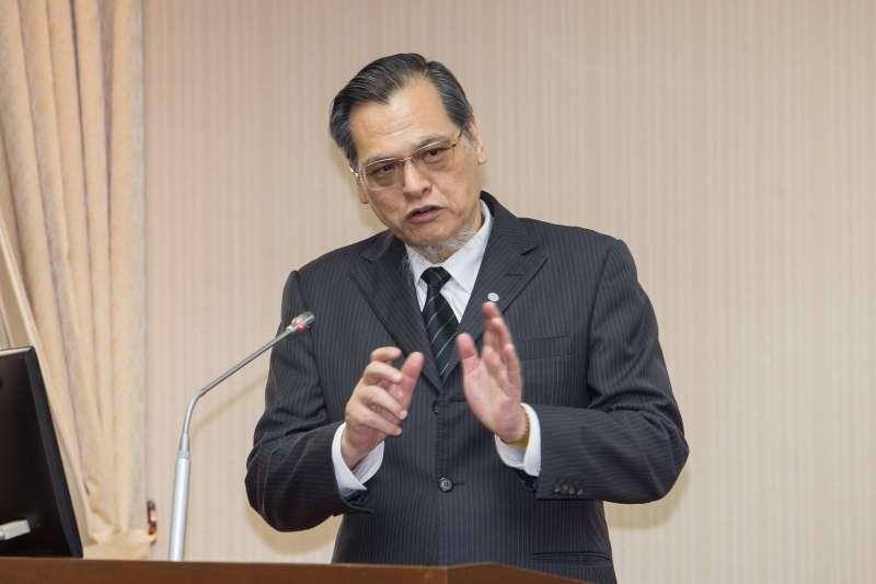 20200330-陸委會主委陳明通30日於內政委員會備詢。(顏麟宇攝)