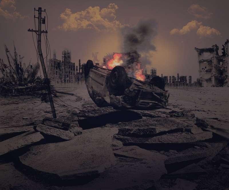 時代大起大落,戰亂使一切如塵屑瓦解。(圖片取自pixabay)