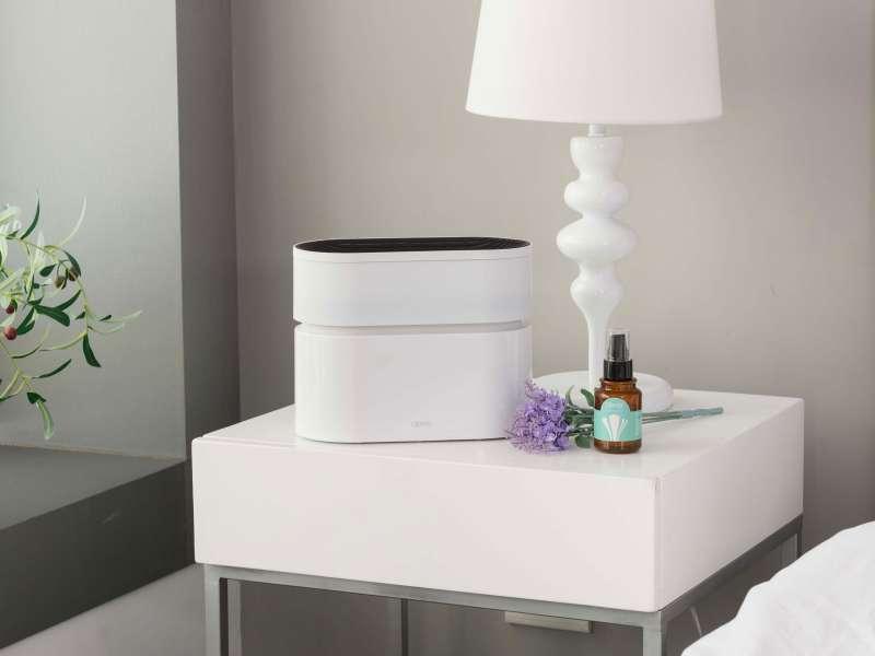 Opro9空氣淨化器搭配專用淨化液,可減少細菌、異味,提升居家空氣品質