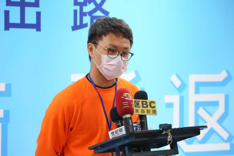 20200411-Dcard創辦人簡勤佑11日出席國民黨數位行銷科技長決選。(顏麟宇攝)