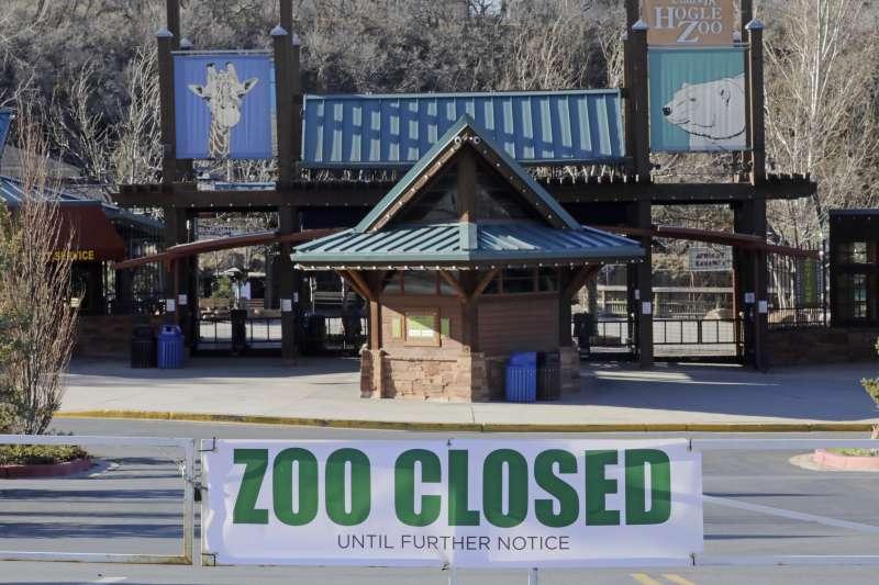 受新冠肺炎疫情影響,全球各地動物園紛紛暫停營業,圖為美國猶他州鹽湖城的霍格爾動物園(Hogle Zoo)。(AP)