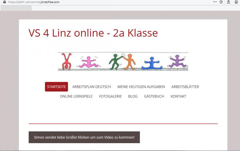 奧地利中部林茲市(Linz)的小學導師為自己的小二班架了一個網站,讓學生和家長可以下載許多有趣的作業,經由家長同意後,也歡迎同學們上傳影片和照片傳達同學彼此的思念。(圖片來源:https://edith-schrammel.jimdofree.com/)