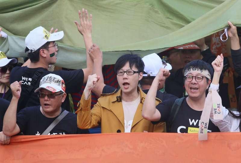 菊系主張罷韓要尊重第三勢力,政黨不宜主導。(柯承惠攝)