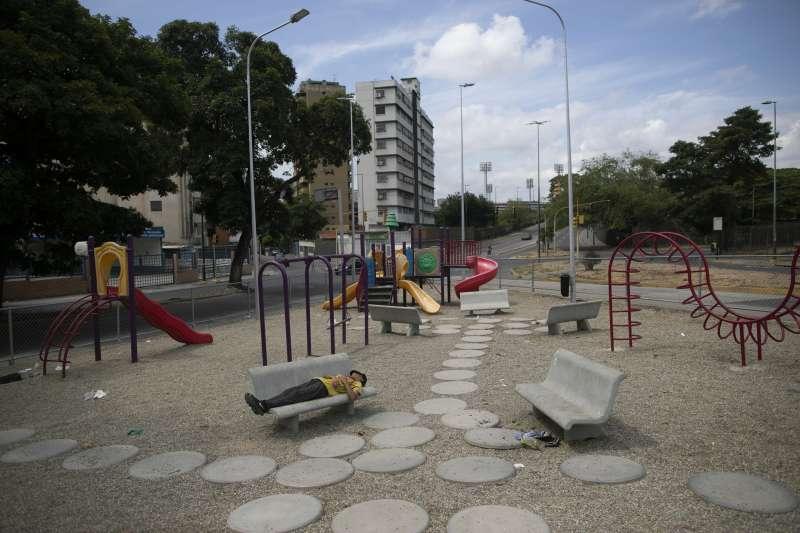 寂靜的春天,寂靜的兒童遊樂場,委內瑞拉首都卡拉卡斯(Caracas)(AP)