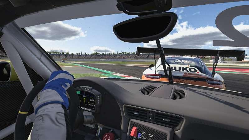 圖1 數位模擬器的賽車情境,仿真程度絲毫不亞於實際場景。(圖/台灣保時捷)