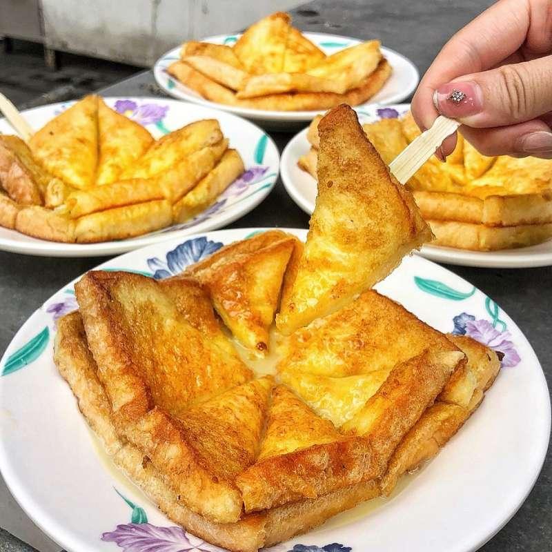 明奎早餐店的法式吐司(圖/翻攝自ting_1726@instagram)