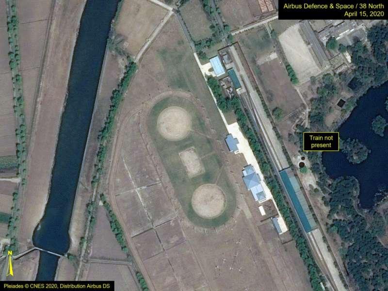 北韓觀察網站分析,金正恩專屬列車4月15日沒有出現在元山市,當天是北韓建國領袖金日成誕辰紀念日,金正恩卻沒有出席閱兵儀式。(AP)