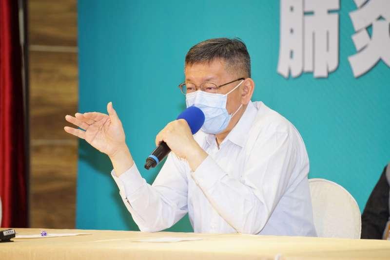 20200427-台北市長柯文哲27日接受媒體聯訪。(盧逸峰攝)