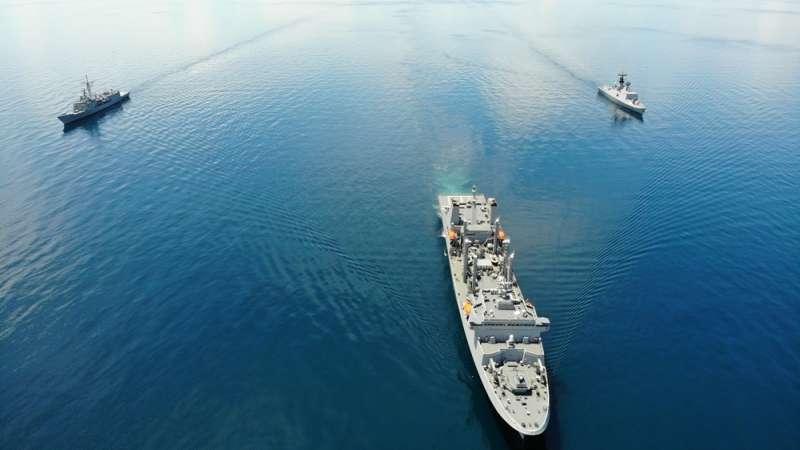 據稱敦睦艦隊離開帛琉後,還有兩段隱藏版航程。(翻攝自中華民國海軍臉書)