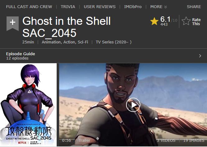 第九名《攻殼機動隊 sac_2045》(圖/擷取自IMDb)