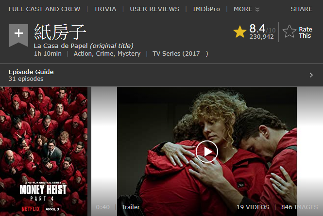 第二名《紙房子》(圖/擷取自IMDb)