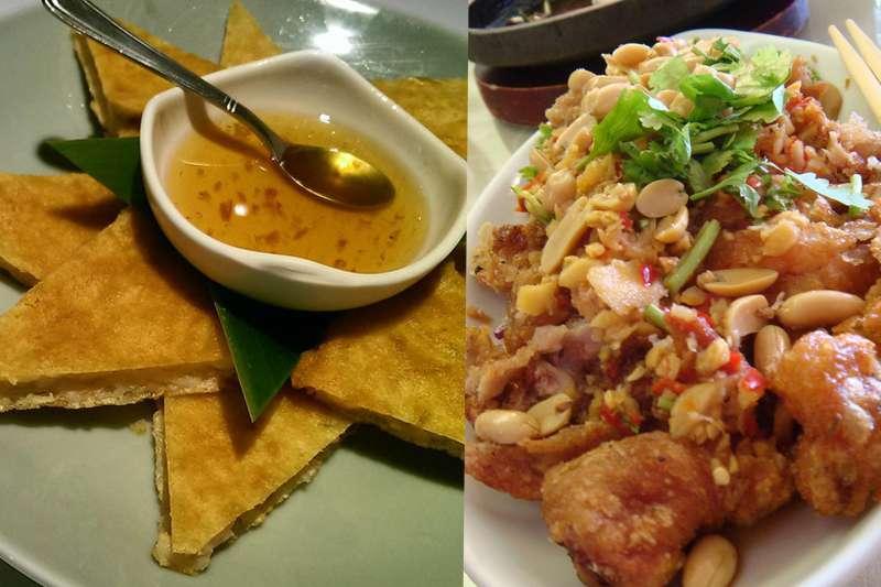 著名的椒麻雞及月亮蝦餅。(圖/flickr @弓長 口喜 口喜 @Sunny老師 MMA魔法學苑)
