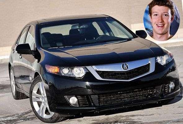 圖二、Facebook CEO Mark Zuckerberg最喜歡Acura TSX 的黑色款。(圖取自Yahoo!官網)