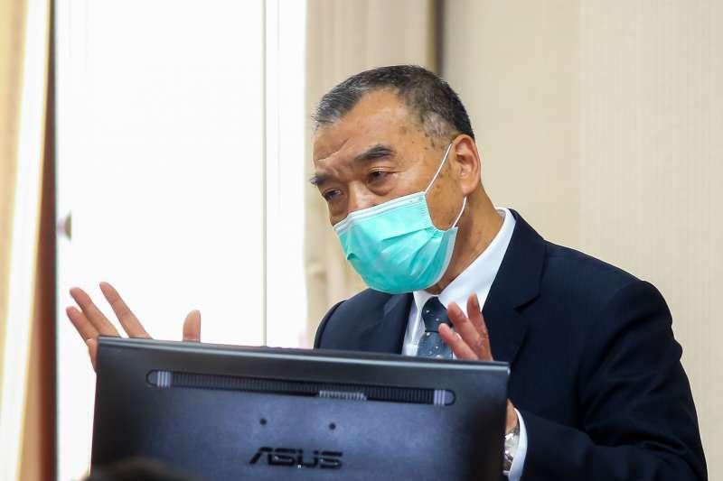 20200507-國安局長邱國正7日於外交國防委員會備詢。(顏麟宇攝)