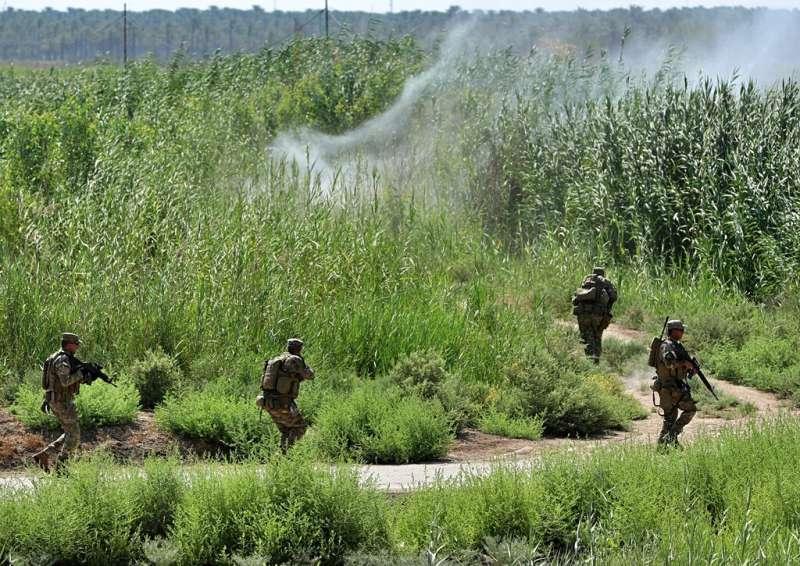 2019年3月,以美國為首的反恐聯軍在伊拉克對抗恐怖組織「伊斯蘭國」。(AP)